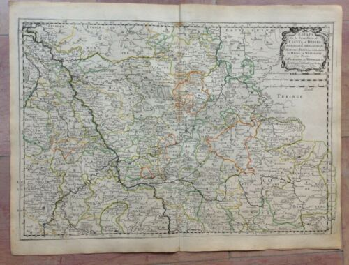 GERMANY DUCHY OF CLEVES 1648 NICOLAS SANSON  LARGE ANTIQUE MAP 17TH CENTURY