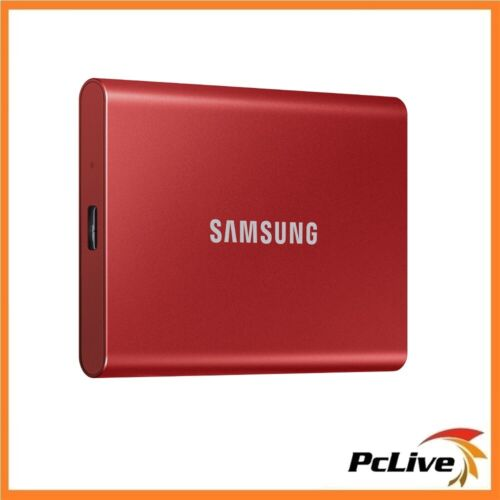 Samsung 1TB  Portable SSD T7 RED Aluminium USB 3.2 Gen 2 Type-C PC MAC Backup
