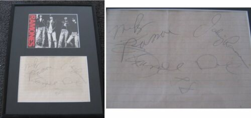 THE RAMONES - AUTOGRAPHED BY 4 circa 1988 SIGNED 1-5616
