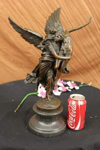 """Bronze Statue Titled """"Gloria Victis"""" the Winged Figure of Victory Hot Cast Decor"""