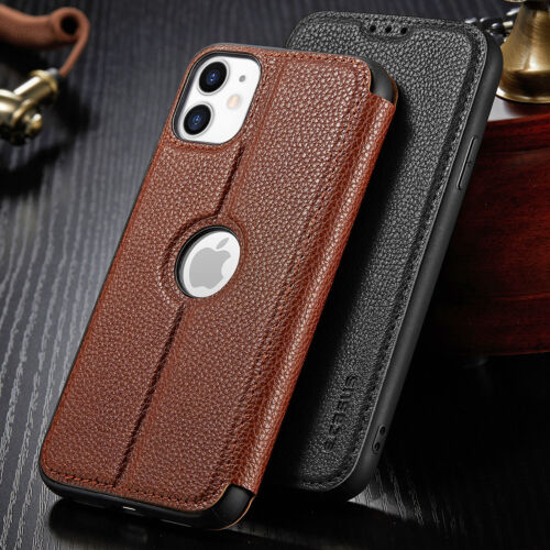 For Iphone 11 Pro Max Xr Xs Slim Leather Wallet Magnet Flip Card Case Thin Cover