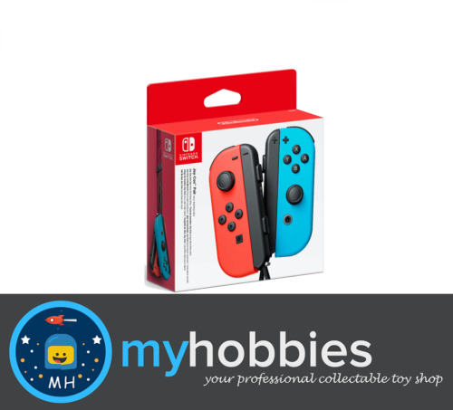 Nintendo Switch Joy-Con Neon Red and Blue Controller Pair Brand New