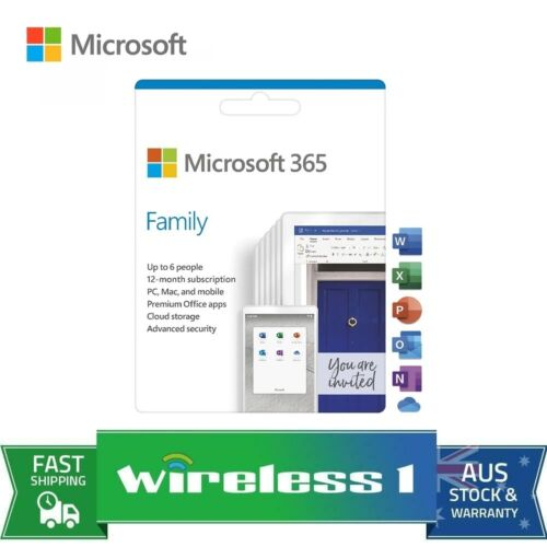 Microsoft 6GQ-01143 Office 365 Family 1 Year Subscription