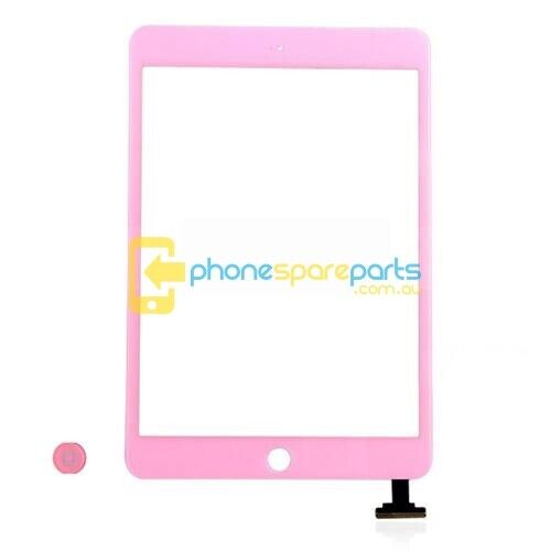 Apple iPad Mini 2 Touch Screen with Home Button IC Module Assembly Pink - AU ...