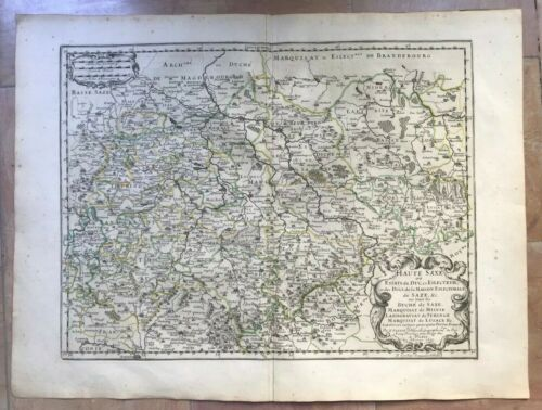 GERMANY UPPER SAXONY 1655 NICOLAS SANSON LARGE ANTIQUE MAP 17TH CENTURY