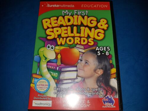 Eureka Multimedia - My First Rading & Spelling Words Ages 5-8 PC CD ROM