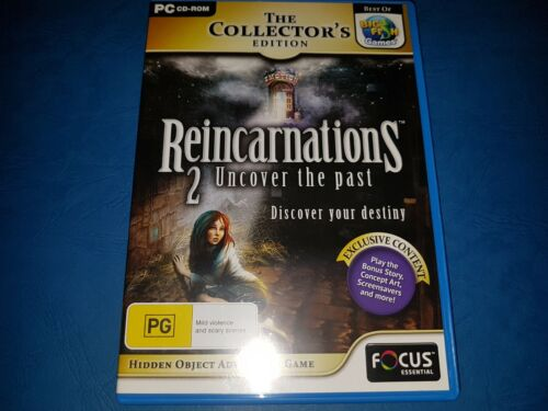 The Collectors Edition Reincarnations 2 uncover the past PC CD ROM