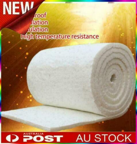 61*100cm Ceramic Fiber Blanket High Temperature Thermal Fireproof Insulation Mat