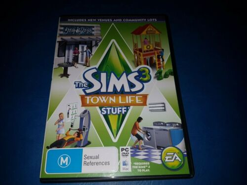 The Sims 3 Townlife Stuff EXPANSION PC DVD ROM MAC GAME IN VGC