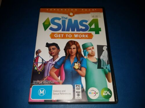 The Sims 4 Get To Work Expansion Pack PC DVD ROM MAC GAME IN VGC