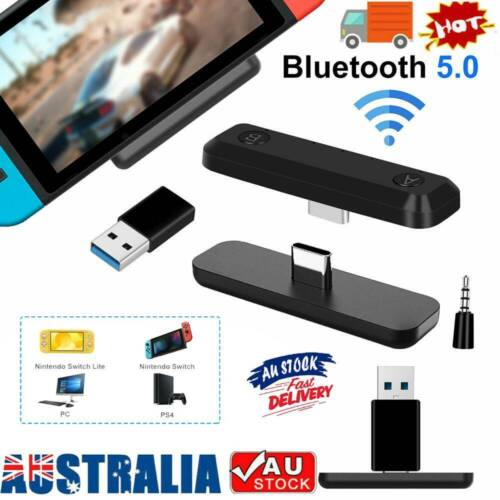 Bluetooth 5.0 Adapter HIFI Audio Tranceiver 5mm For Nintendo Switch/Lite PS4 PC