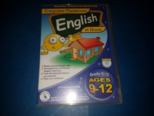 COMPUTER CLASSROOM AT HOME ENGLISH CD ROM. GRADE 5-6 Ages 9-12 In VGC
