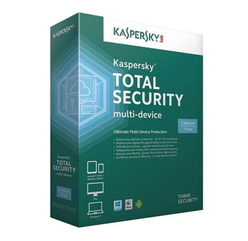 Kaspersky K-tsec-31 Total Security 2019 3 Device 1 Year Email Key Digital