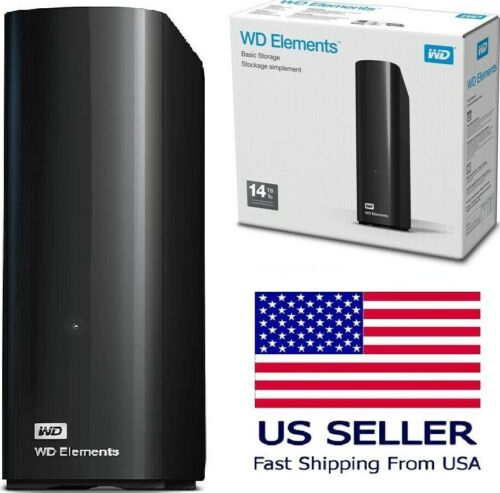 WD Western Digital Elements Portable External Desktop Storage Drive USB 3.0 GIFT