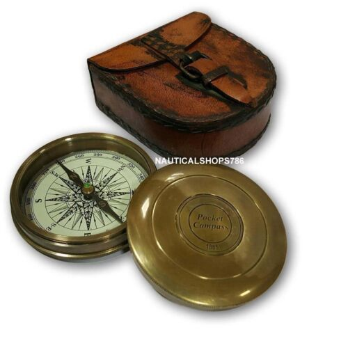 Nautical Beautiful West London Pocket Compass For Gifting Item With Case