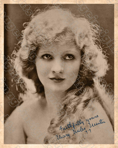 MARY MILES MINTER 1920's Screen Legend Photograph 8x10 Autograph Reprint