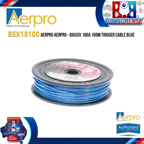 Aerpro BSX18100 Bassix 18AWG 100m Blue Trigger Cable
