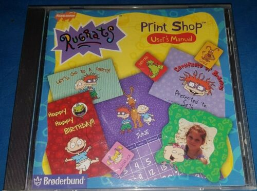 Nickelodeon Rugrats Print Shop - PC CD-ROM In VGC