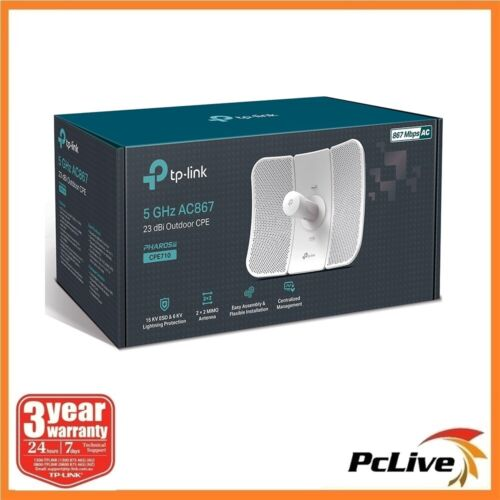 NEW TP-Link CPE710 5GHz AC 867Mbps 23dBi Wireless Outdoor Access Point