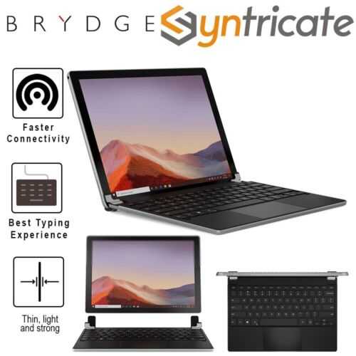 Surface Pro 7/6/5/4 BRYDGE 12.3 Pro+ Wireless Keyboard with Touchpad - Silver