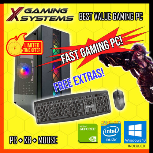 SUPER Intel | SSD | NVIDIA | i5 QUAD CORE Gaming PC Computer Office Desktop <br/> ⚔️INFINITY⚔️GAMING🔥GEFORCE PC🔥🚀BEST VALUE ON EBAY🚀