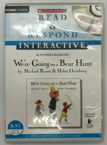 Scholastic Read & Respond Interactive PC/MAC CD-ROM We're Going on a Bear Hunt