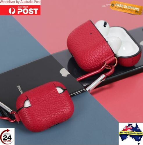 AirPod Pro Case Cover Premium Genuine Leather High Quality Lychee Pebbled