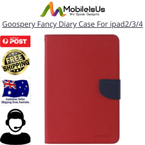 iPad 2nd 3rd and 4th Generation MERCURY Goospery Fancy Diary Flip Case Cover AU