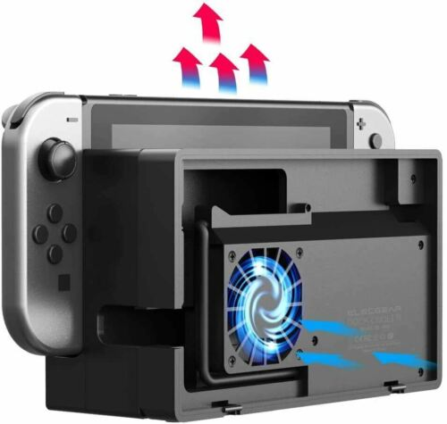 External Cooling Fan with Nintendo Switch Dock Set -Turbo Cooler for NS Station