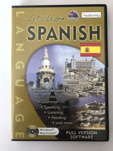 ^ LET'S LEARN SPANISH By NODTRONICS [PC CD-ROM] BRAND NEW [AUSSIE SELLER]