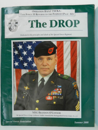 """""""GREEN BERET"""" THE DROP MAGAZINE, SUMMER 2008 ISSUE, SPECIAL FORCES ASSOCIATIONPrice Guides & Publications - 171192"""