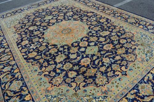 9'4 x 12'3 Superb Blue Kurdish S Antique Handmade Wool Area Rug Oriental Carpet