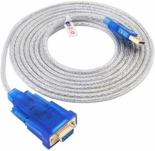 USB to RS232 DB9 Female Serial Port Adapter Cable -(10 Feet, FT232 Chip)-3m