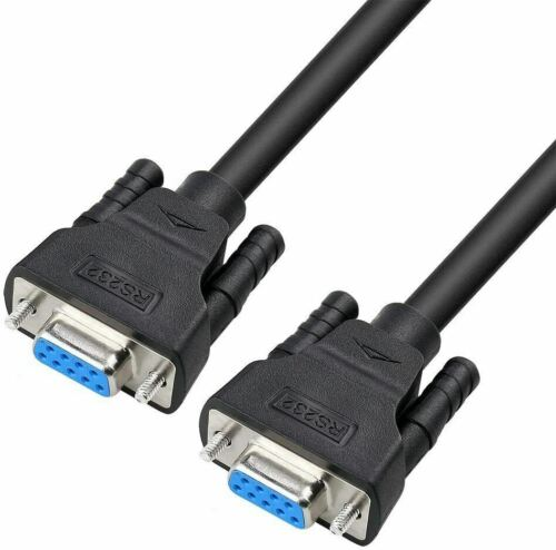 Serial Cable Female to Female 9 Pin D-Sub Straight Through Cord-(10 Feet, Black)