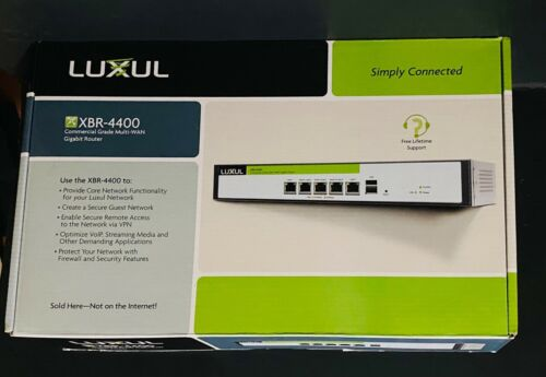 LUXUL XBR-4400 Commercial Grade Multi-WAN Gigabit Router w/ Rack Mount & Manual
