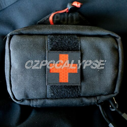 Reflective Red Medic Patch - tactical medical trauma first aid paramedic ifak irModern, Current - 36066