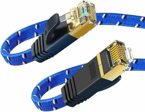 Ethernet Cable Flat LAN Cable High Speed Internet Network Patch Cord (4-M/12 Ft)