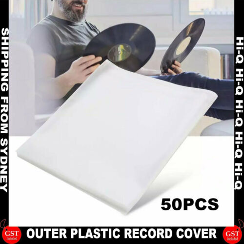 """50PCS Sleeves Outer LP Music Durable for 12"""" Vinyl Record Plastic Record Cover A"""