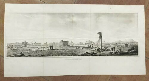 PALMYRE SYRIA 19TH CENTURY by LEMAITRE & ARNOUT ANTIQUE ENGRAVED VIEW