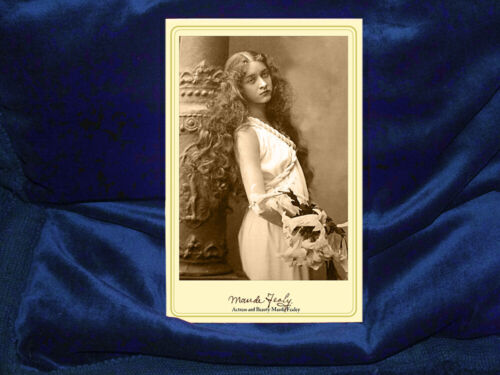 MAUDE FEALY Acclaimed Actress Beauty Cabinet Card Photograph Autograph RP
