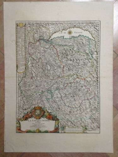 SAVOY FRANCE 1782 PLACIDE / DECHAUSSEE UNUSUAL LARGE ANTIQUE MAP 18TH CENTURY
