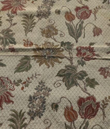"""Vintage c1930-1940 Floral Cotton Tapestry Sample Fabric~L-27"""" X W-24"""""""