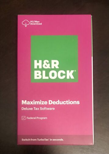 H&R Block Tax Software Deluxe 2020 PC/MAC - New
