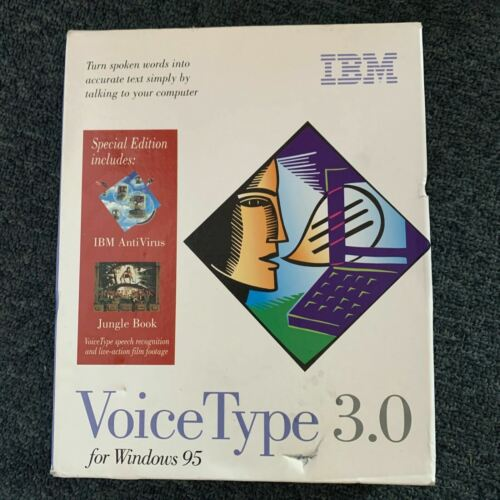 *New* IBM VoiceType 3.0 For Windows 95 - Vintage Voice Recognition Software
