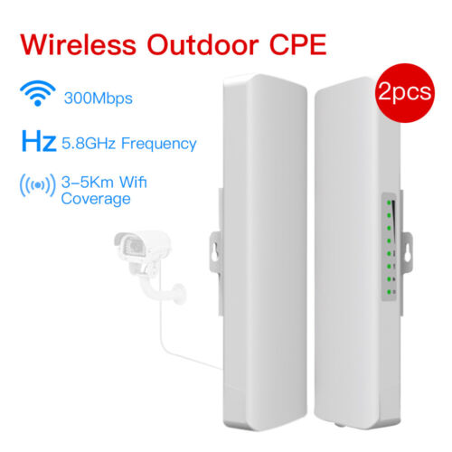 2pcs 5.8Ghz 300Mbps WIFI Outdoor CPE Repeater Point to Point Directional Antenna