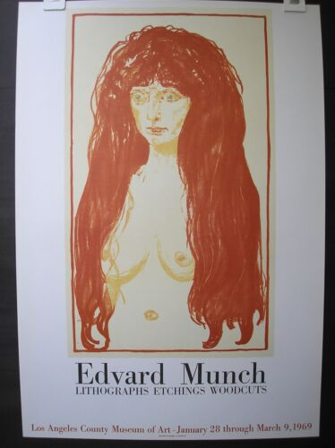 vintage poster Edvard Munch Los Angeles printed by Mourlot 1969