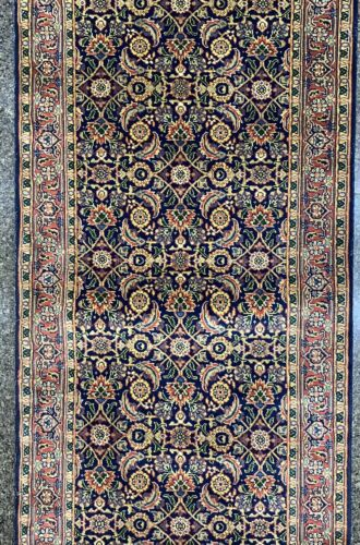 """Luxury Hand Knotted 20 feet long Runner New Zealand Wool Rug 239"""" x 33"""""""