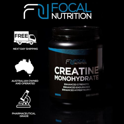FOCAL NUTRITION 100% PURE CREATINE MONOHYDRATE 1KG *Pharmaceutical Grade*