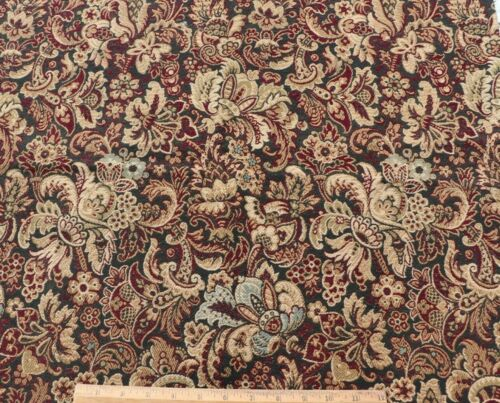 """Antique French c1870 Jacobean Woven Cotton Tapestry Fabric~L-25"""" X W-20"""""""