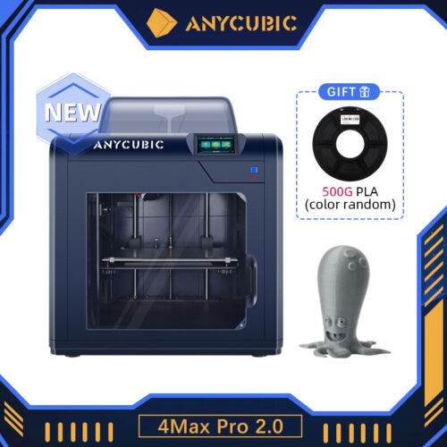 ANYCUBIC 4Max Pro 2.0 270x210x190mm Meanwell Power Resume Printer TMC2208 Driver